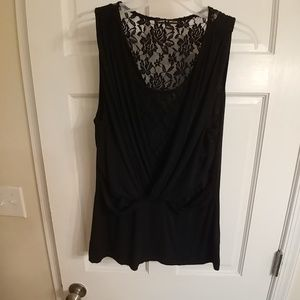 Cable & Gauge Lace Tank Size L